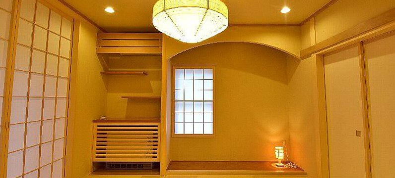 concept アーチ下がり壁のある和室