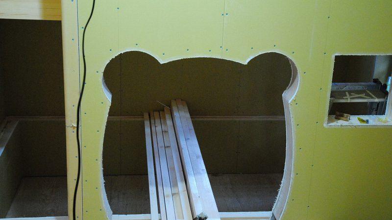 [家づくりblog]うんていのある家 1/Rの壁づくり