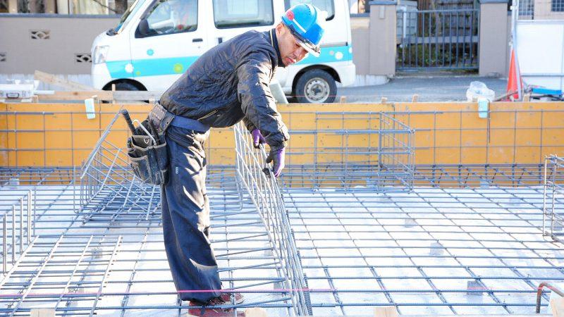 [家づくりblog]仙台の街が見える家 基礎の鉄筋組み