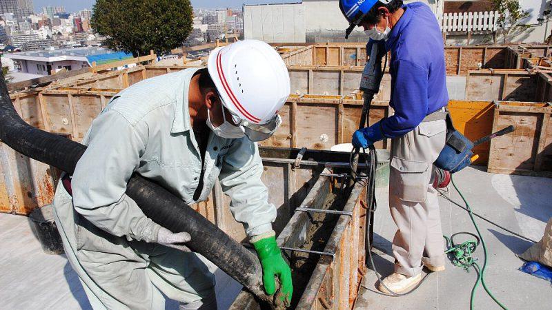 [家づくりblog]仙台の街が見える家 基礎のコンクリート打ち