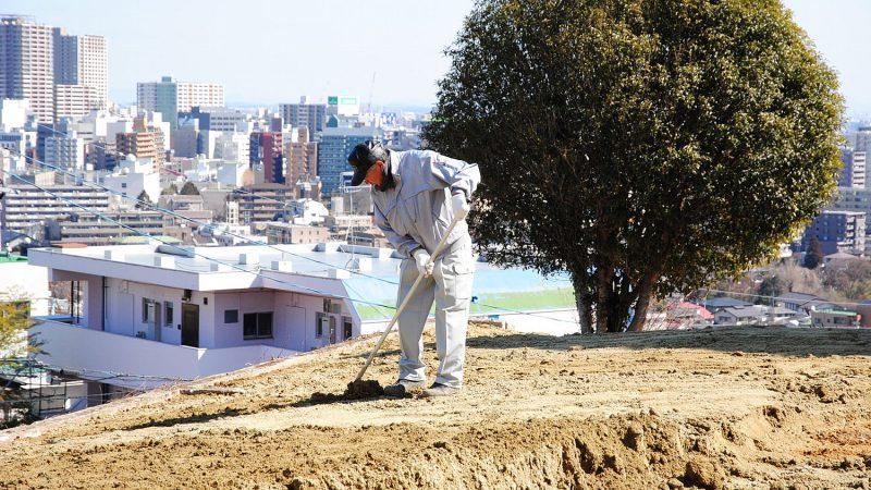 [家づくりblog]仙台の街が見える家 整地作業