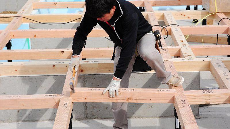 [家づくりblog]仙台の街が見える家 今日から木工事