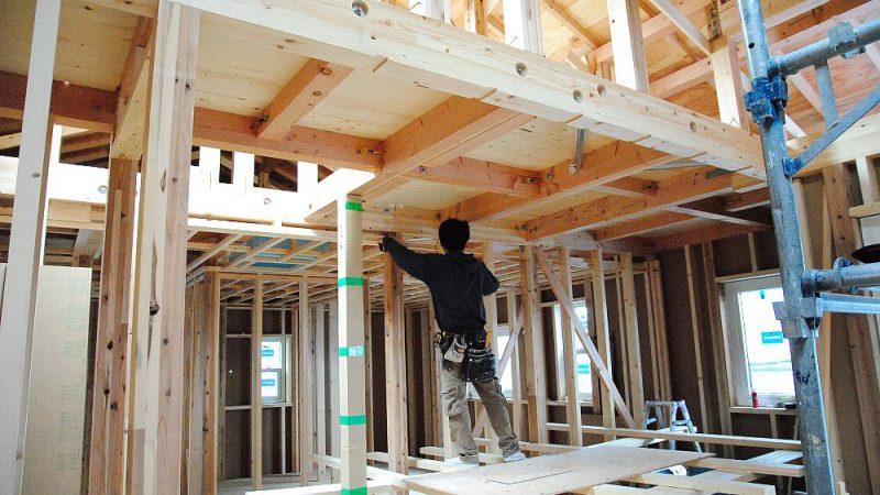 [家づくりblog]仙台の街が見える家 内部下地作業
