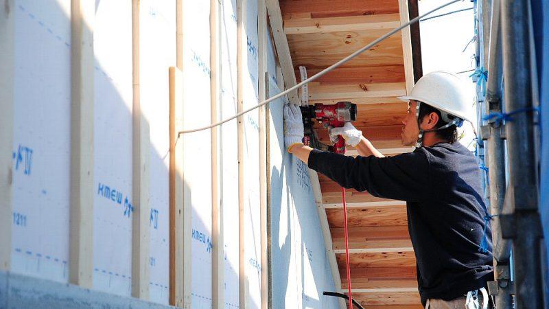 [家づくりblog]仙台の街が見える家 外壁工事