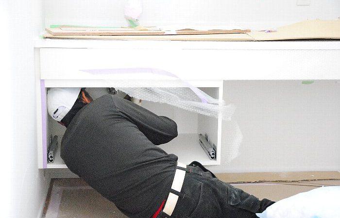 [家づくりblog]仙台の街が見える家 器具付け作業