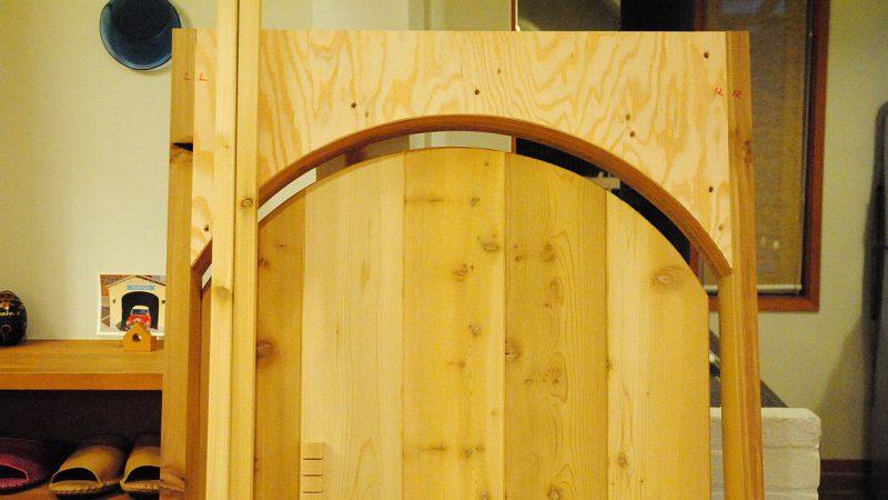 [Hさんのカーヴづくり] 入口のドア製作