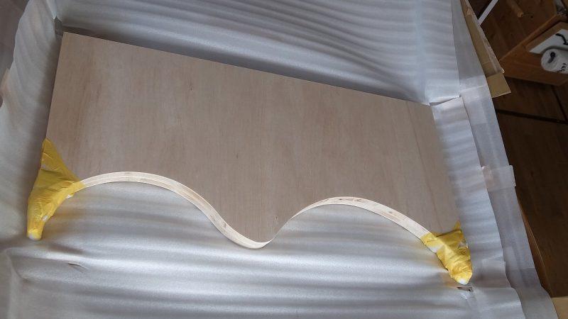 [koagariのある家] 1/Rの下がり壁・治具到着