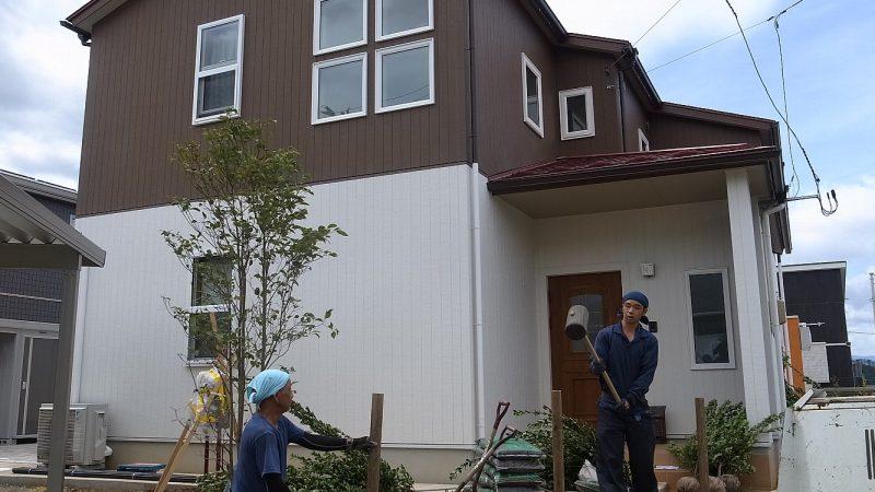 [koagariのある家]  庭に緑が入ったら。