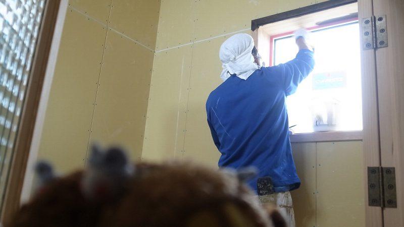 [大家族に乾杯!の家] 内部塗装が始まりました。